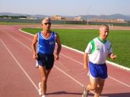Maraton antrenmanlarından bir kare...
