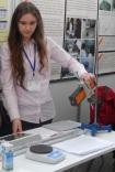 Okul laboratuvarında çalışırken...