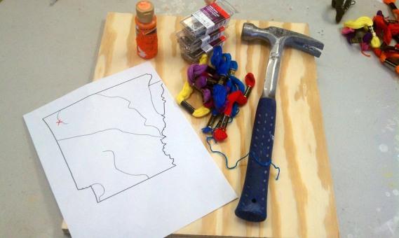 Filografi yapımında kullanılan malzemeler.