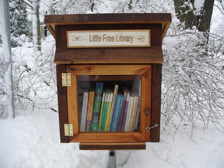 """2009 Yılında bir sosyal sorumluluk projesi olarak başlatılan """"Little Free Library"""" Amerika'nın her yerine hızla yayılıyor."""