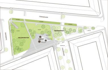Fakat bu meydanda, Tåsinge Plads'i bu deniz şeridindeki şehri iklim değişikliğinin etkilerinden koruyacak olan planın bir parçası yapan gizli özellikler var.