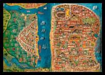 Anar'ın İstanbul tasfirlerine yer verdiği kitaplarındaki İstanbul haritası.